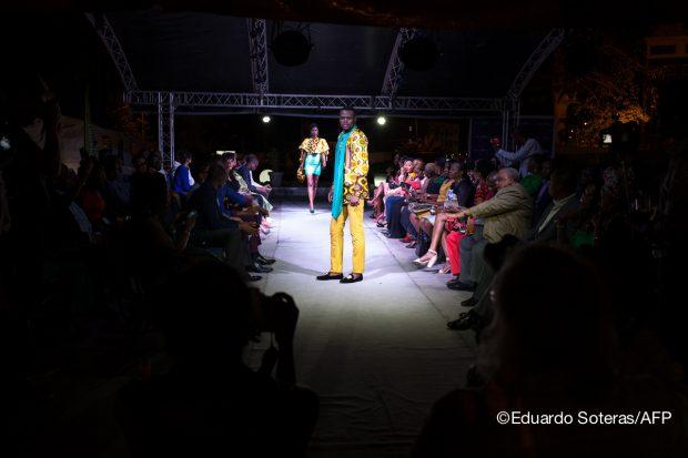 SAPE podium fashion week congo