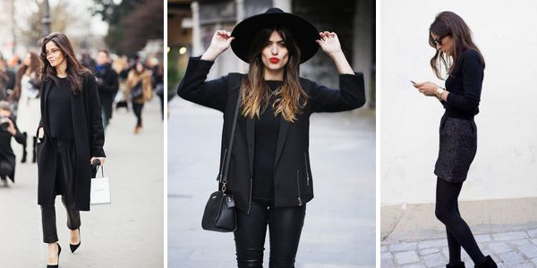 total look noir style chic classe