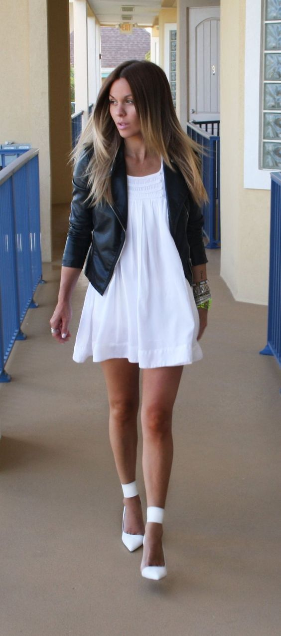 Look robe blanche